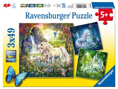 Ravensburger - Eenhoorn puzzel 3x49st